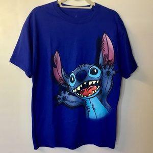 NWT Disney Lilo & Stitch 2-Sided Tee - L